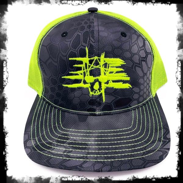 Image of 432 Neon Camo Snapback Cap
