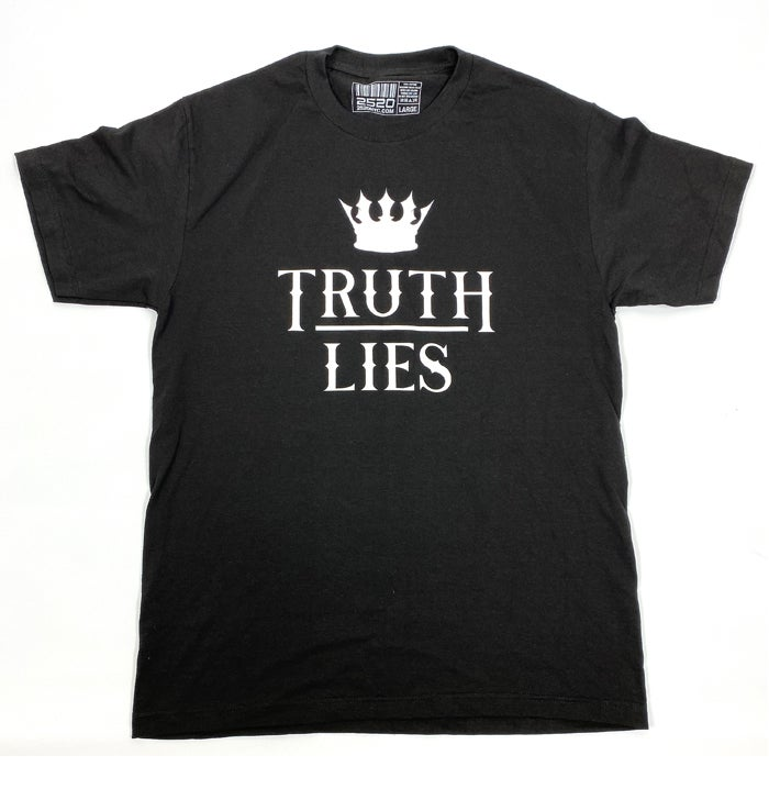 Image of TRUTH OVER LIES TEE - BLACK