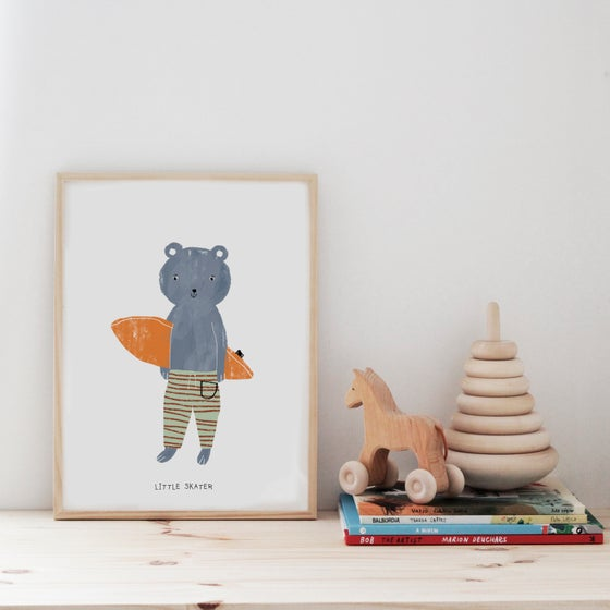 Image of LITTLE SKATER ILLUSTRATION