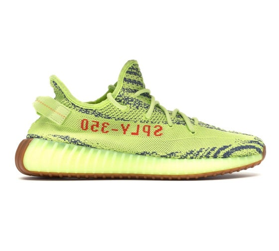 Image of Adidas Originals Yeezy Boost 350 V2 - Semi Frozen Yellow - Size 9.5