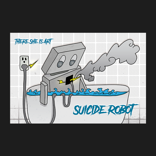 Image of 12 x 18 Suicide Robot - Print