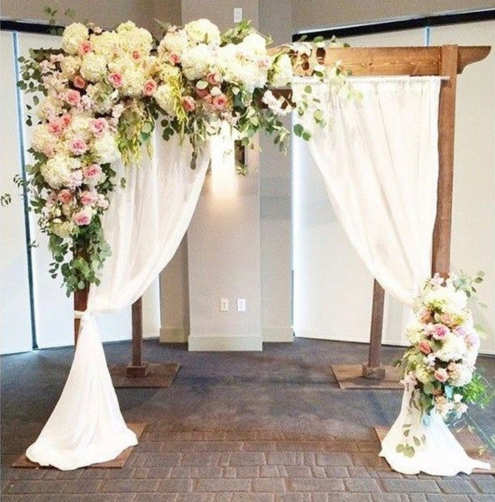 Large bridal Backdrop can be used as canopy chuppah,