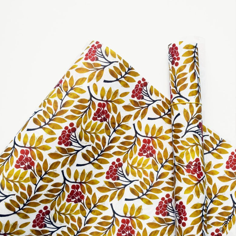 Image of Yellow Leaves Wrapping Paper