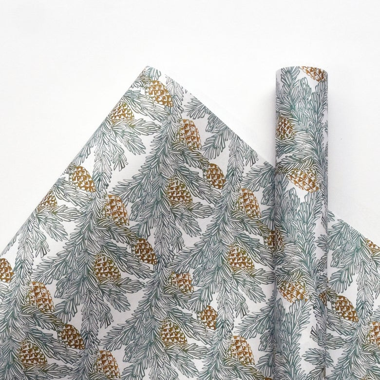 Image of Pine Cones Wrapping Paper