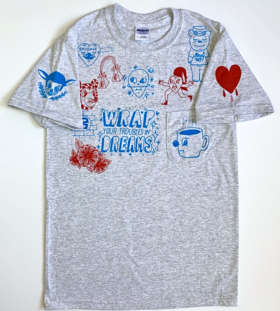 "Image of ""Heart on my sleeve"" pocket tshirt (SMALL)"
