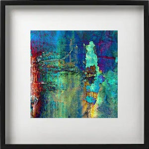 """Image of Digital Photo Art - Joy for Life - Printed on Linen Paper -8x8"""" in 12x12""""mat"""