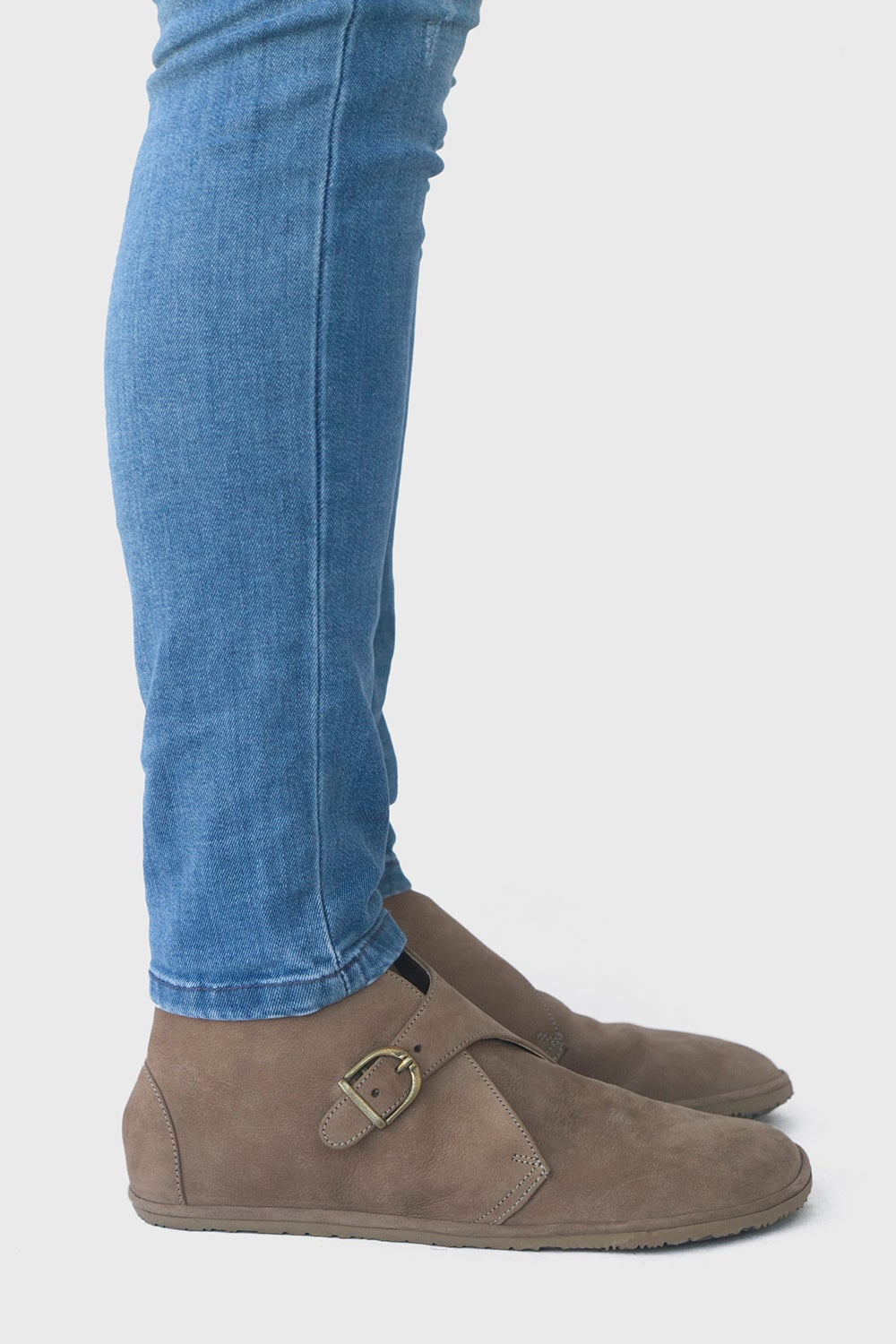 Image of Mono - Monk boots in Taupe Nubuck