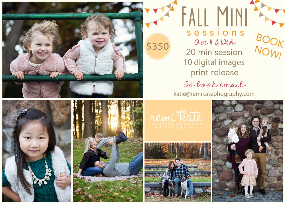 Image of 2019 Fall Mini Sessions- October 12th