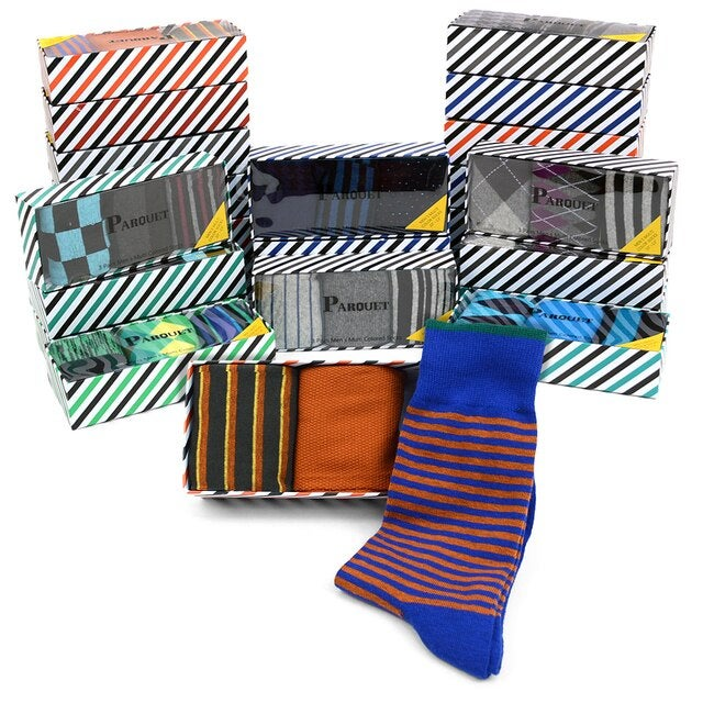 Image of Dress Socks Gift Box Set (3 pairs per box)