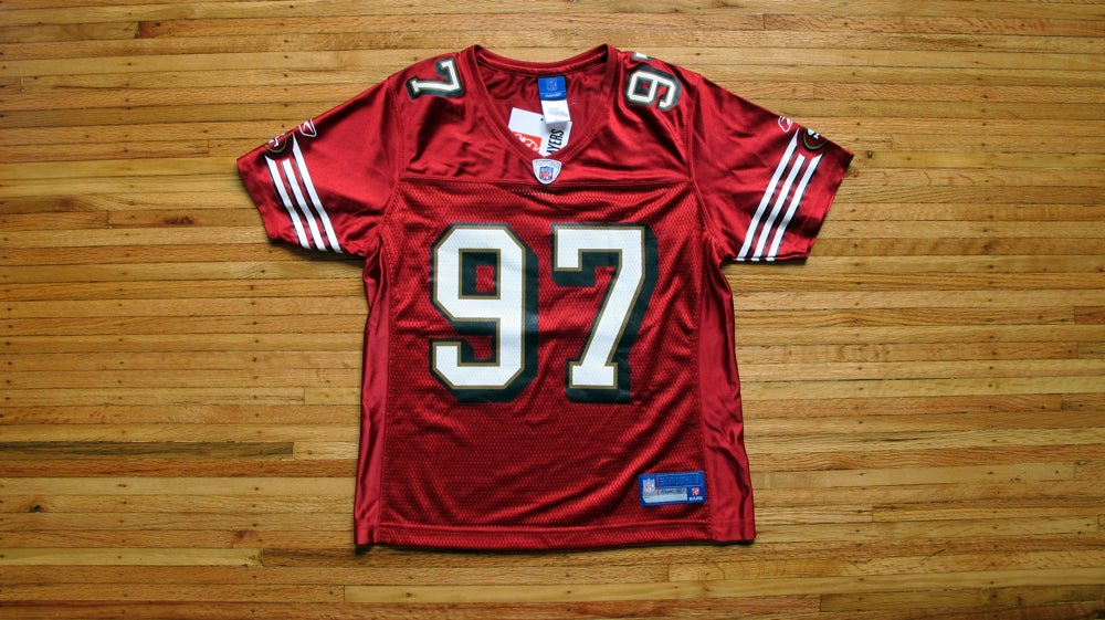 Image of Vintage Women's 49ers Bryant Young Jersey by Reebok