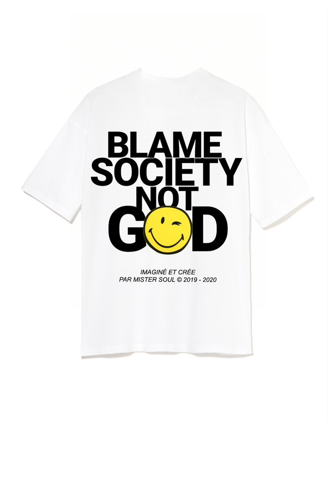 Image of BLAME SMILEY WHITE T-SHIRT