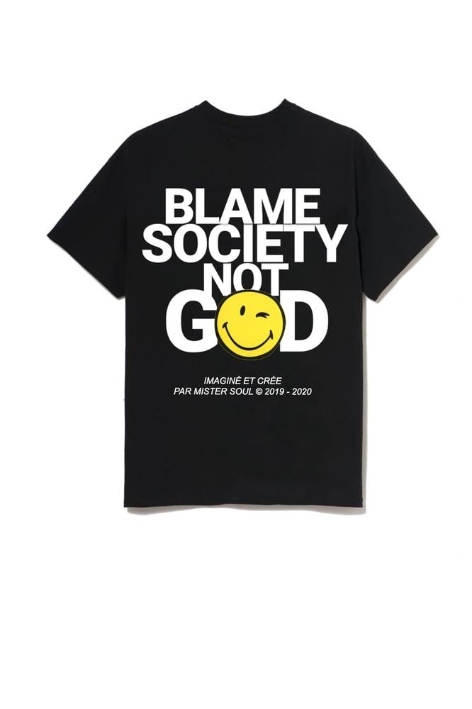 Image of BLAME SMILEY BLACK T-SHIRT