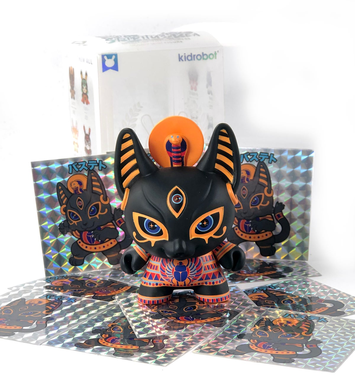 "Image of Bastet 3"" Dunny & Sticker"