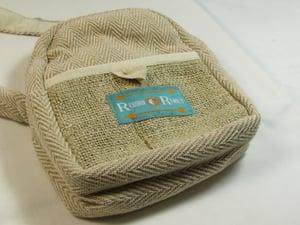 Image of Organic Hemp Day Pouch - Natural   100% Vegan   Eco Friendly   Handmade   Crossbody Festival Bag   H