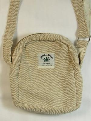 Image of Organic Hemp Day Pouch - Natural | 100% Vegan | Eco Friendly | Handmade | Crossbody Festival Bag | H