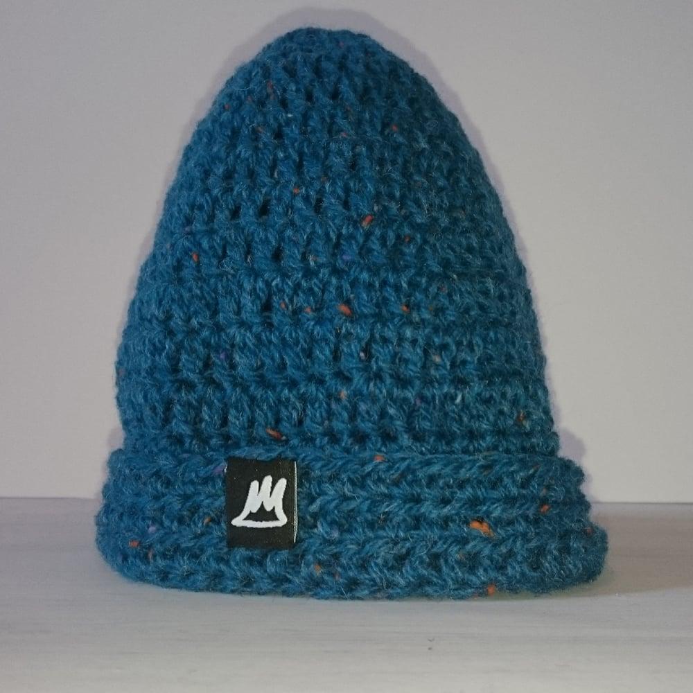 Image of Sea Blue Wool Beanie