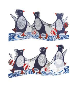 Image of Penguins Foil Tri-fold