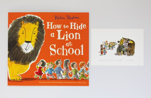 Image of How to Hide a Lion at School signed book with giclée print