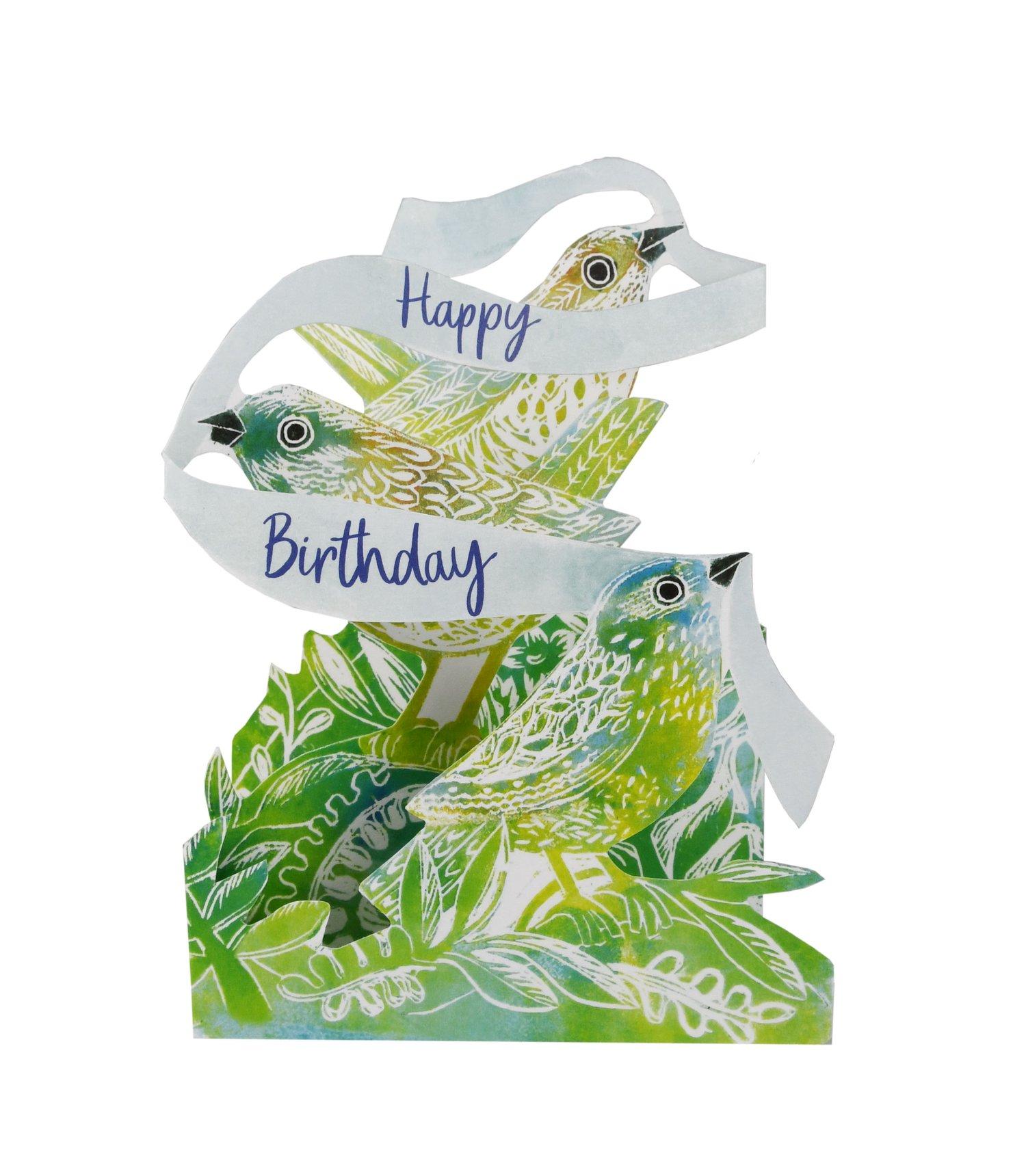 Image of Happy Birthday Bird Tri-fold