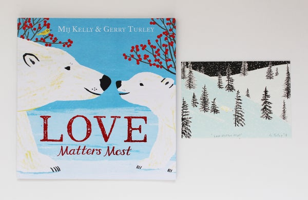 Image of Love Matters Most signed book with giclée print