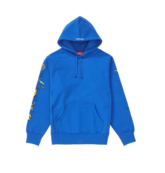 "Image of Supreme ""Menace"" Hooded Sweatshirt - Royal - Size XL"