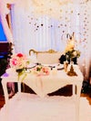 White cake, treat or bridal table