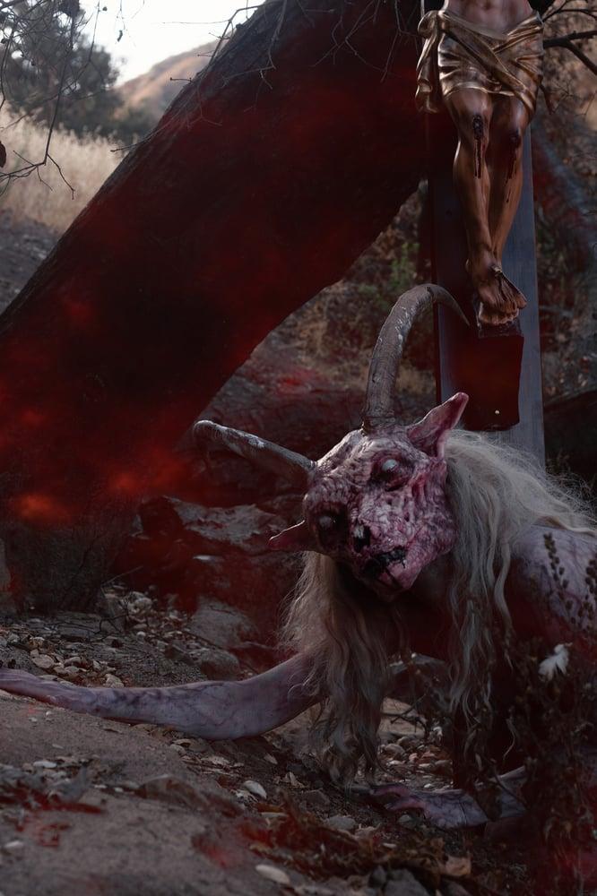 Image of SANGRE - fresh skinned flesh color goat mask