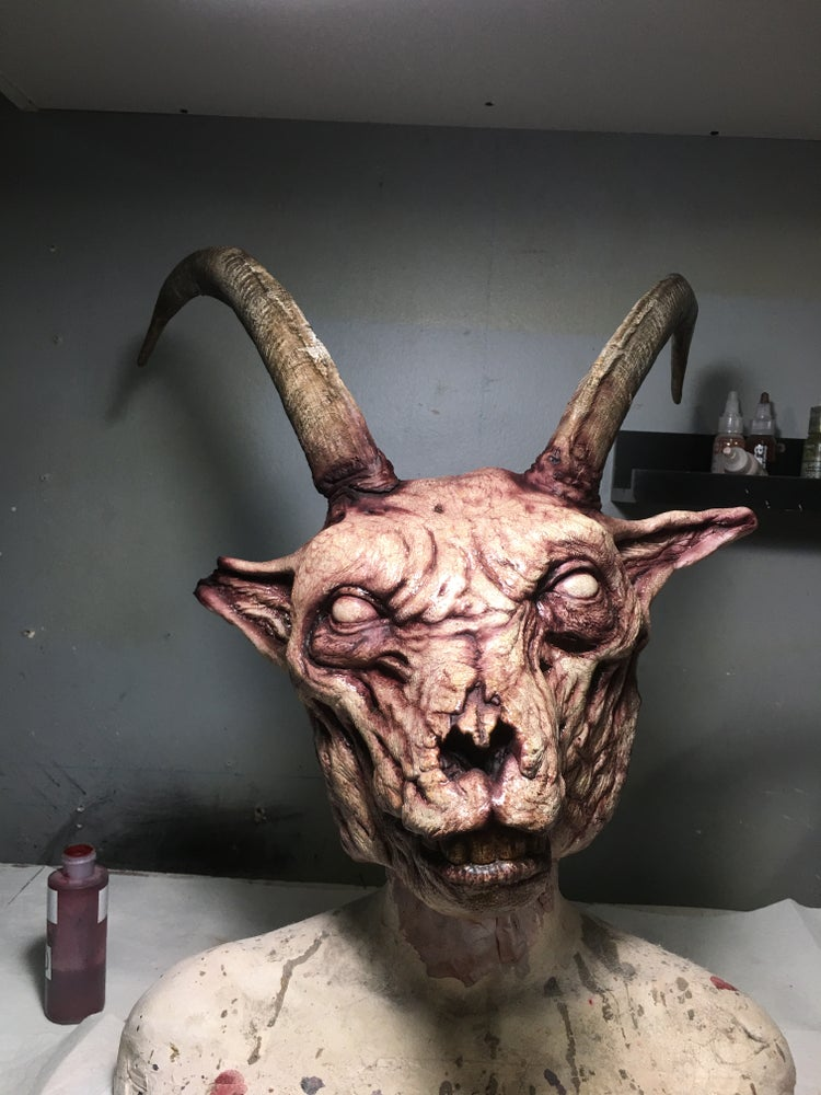 Image of DEATHHAUS - Putrified, Rotten Painted Goat Mask