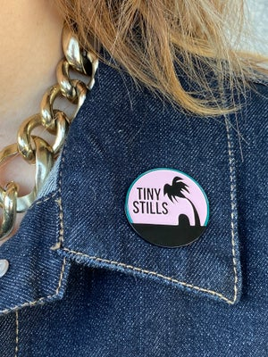 Image of Bury Me Under a Palm Tree Enamel Pin