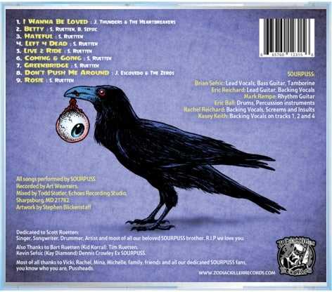 "Image of SOURPUSS- ""Left For Dead"" CD"