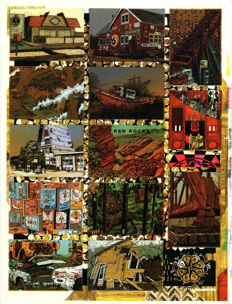 "Image of ""Untitled (Uncut Landland Postcard Sheet"" • Limited Edition Art Print (19.5""x25.5"")"