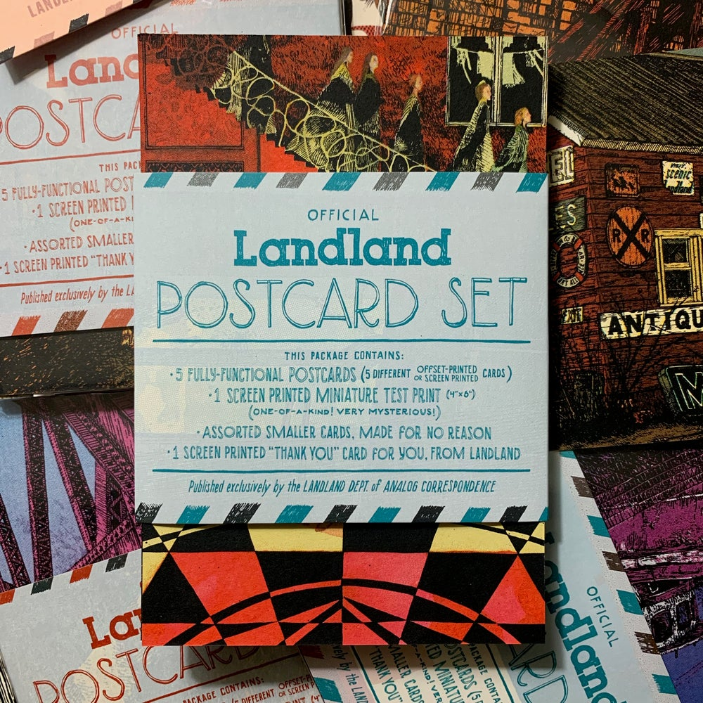 Image of Official Landland Postcard Set (Blind Mystery Packs)