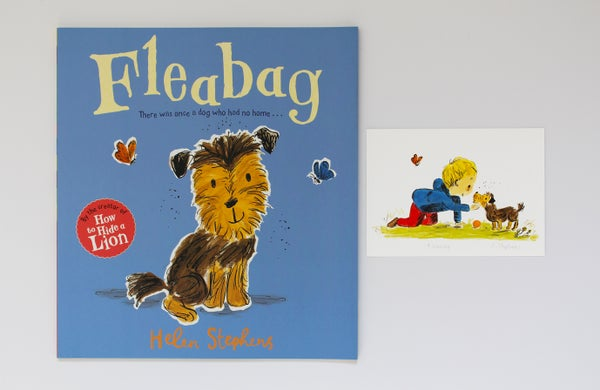 Image of Fleabag signed book with giclée print
