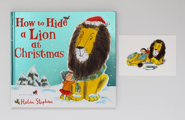 Image of Hardback How to Hide a Lion at Christmas signed book with giclée print