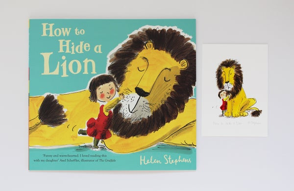 Image of How to Hide a Lion signed book with giclée print