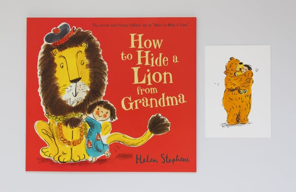 Image of How to Hide a Lion From Grandma signed book with giclée print