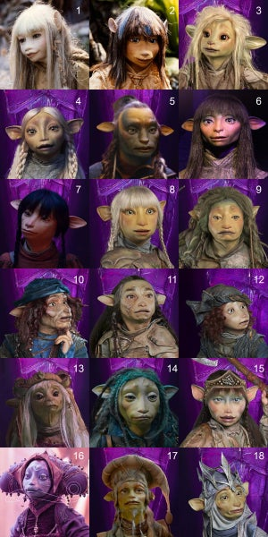 Custom gelfling portrait commission (Physical artprint shipped)