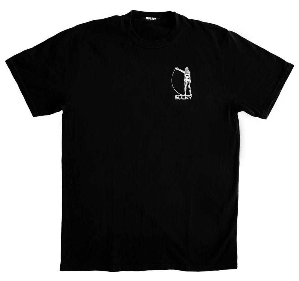 Image of BULKY TEE SHIRT BLACK AND WHITE 2 // SIZE XL