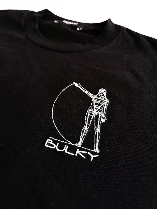 Image of BULKY TEE SHIRT BLACK AND WHITE 2 // SIZE M
