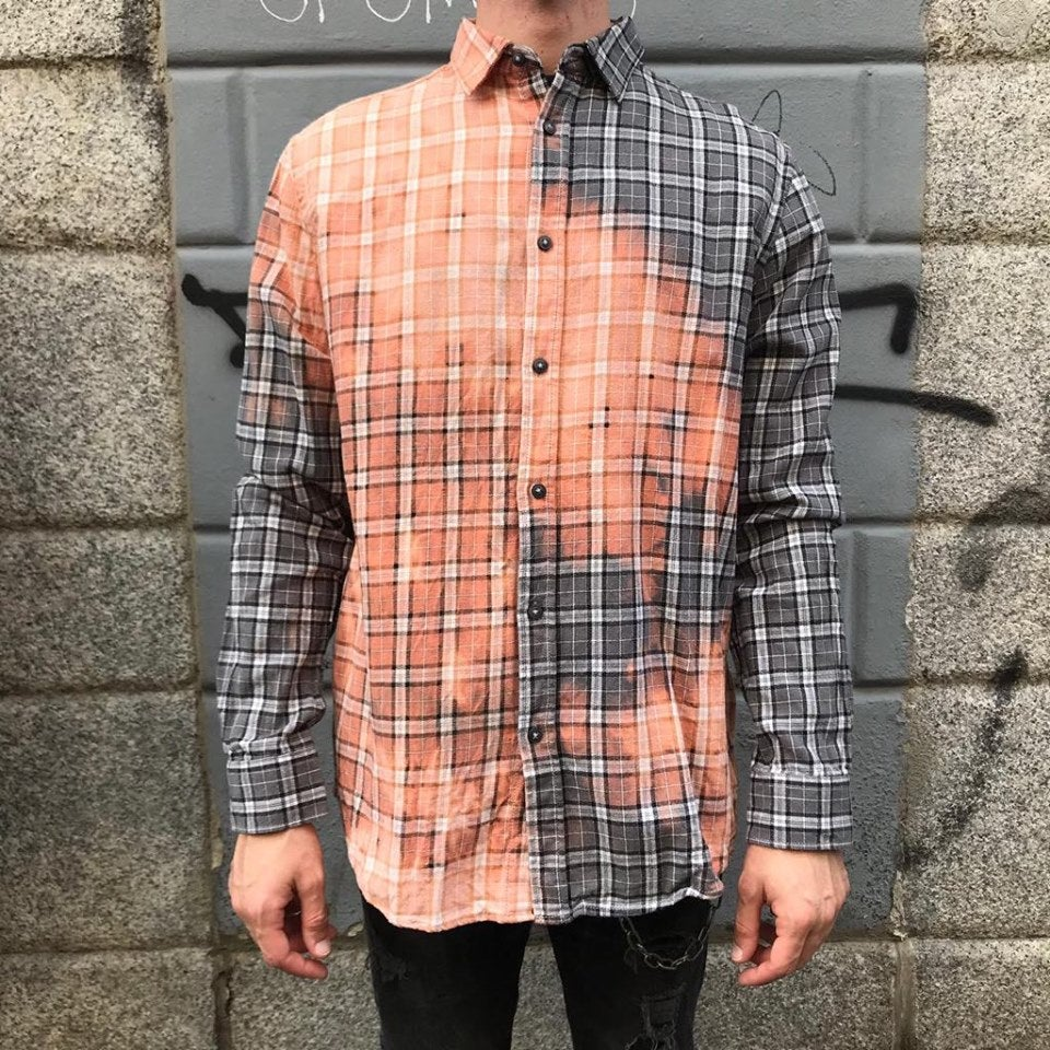 Image of FLANNEL BLEACHED SHIRT #8