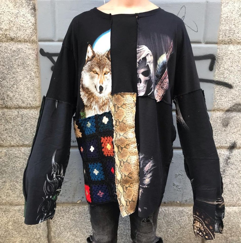 Image of PATCHWORK REWORKED LONG SLEEVE #4
