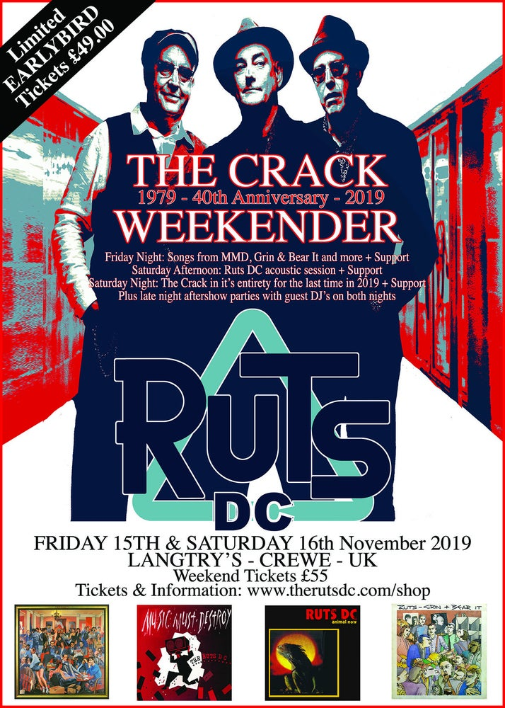 Image of RUTS DC The Crack Weekender 'EARLYBIRD' Weekend Ticket