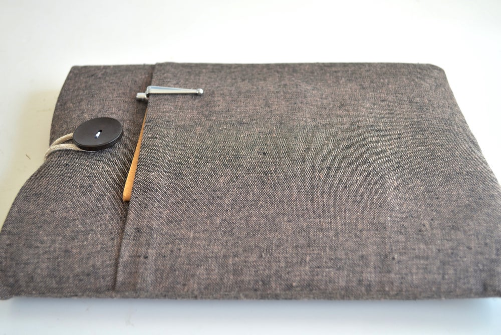 Image of Brown + Orange Laptop Sleeve, Tablet Cover Case