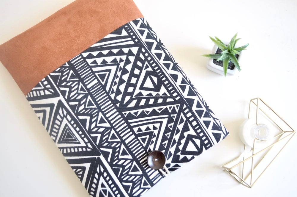 Image of Aztec Suede MacBook Cover, iPad Sleeve, Padded Custom Fit Case