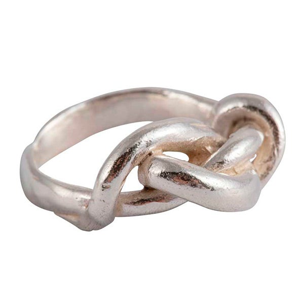 Image of All tied up sterling silver ring