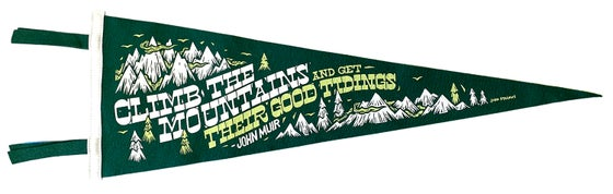 Image of Climb the Mountains Pennant