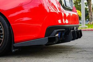 "Image of 2015-2019 Subaru Wrx/ STI ""v6"" rear diffuser"