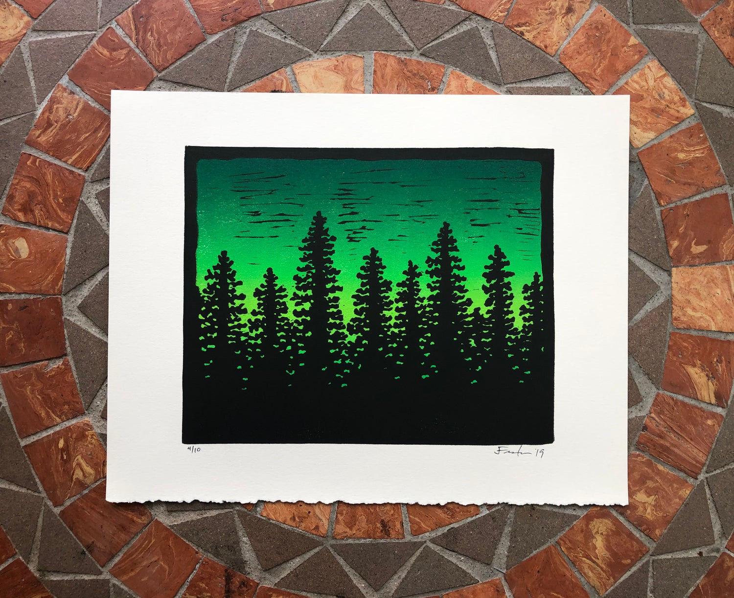 Image of Tree line silhouette prints