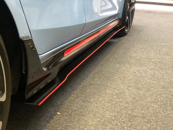 "Image of 2019 Hyundai Veloster ""v1"" side skirts"