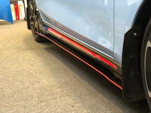 """Image of 2019 Hyundai Veloster """"v1"""" side skirts"""